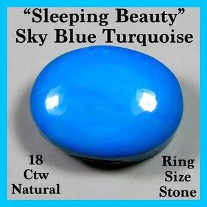 "18.5 ctw ""Sleeping Beauty"" Sky Blue Turquoise"